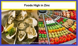 image of foods that contain Zinc in big quantities