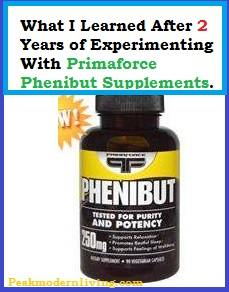 2 year expirement with phenibut dosage and benefits