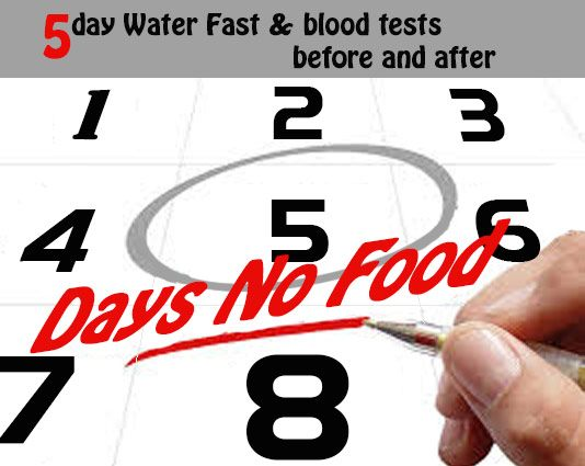 my 5 day fast and my blood tests